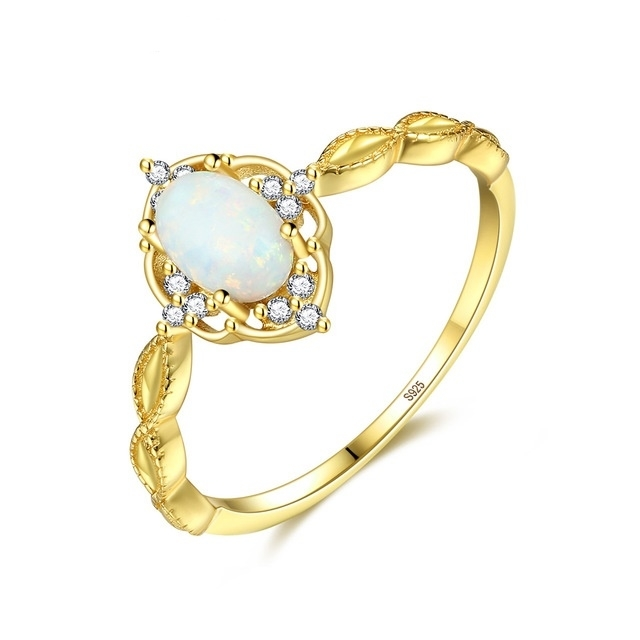 S925_ring_new_simple_and_fashionable_zircon_Aobao_ring_-_gold,_6