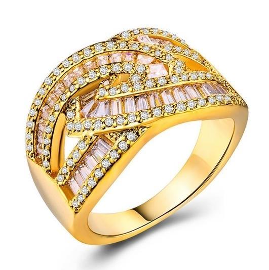 Creative_women's_Ring_18K_gold_with_zircon_luxury_ring_-_7