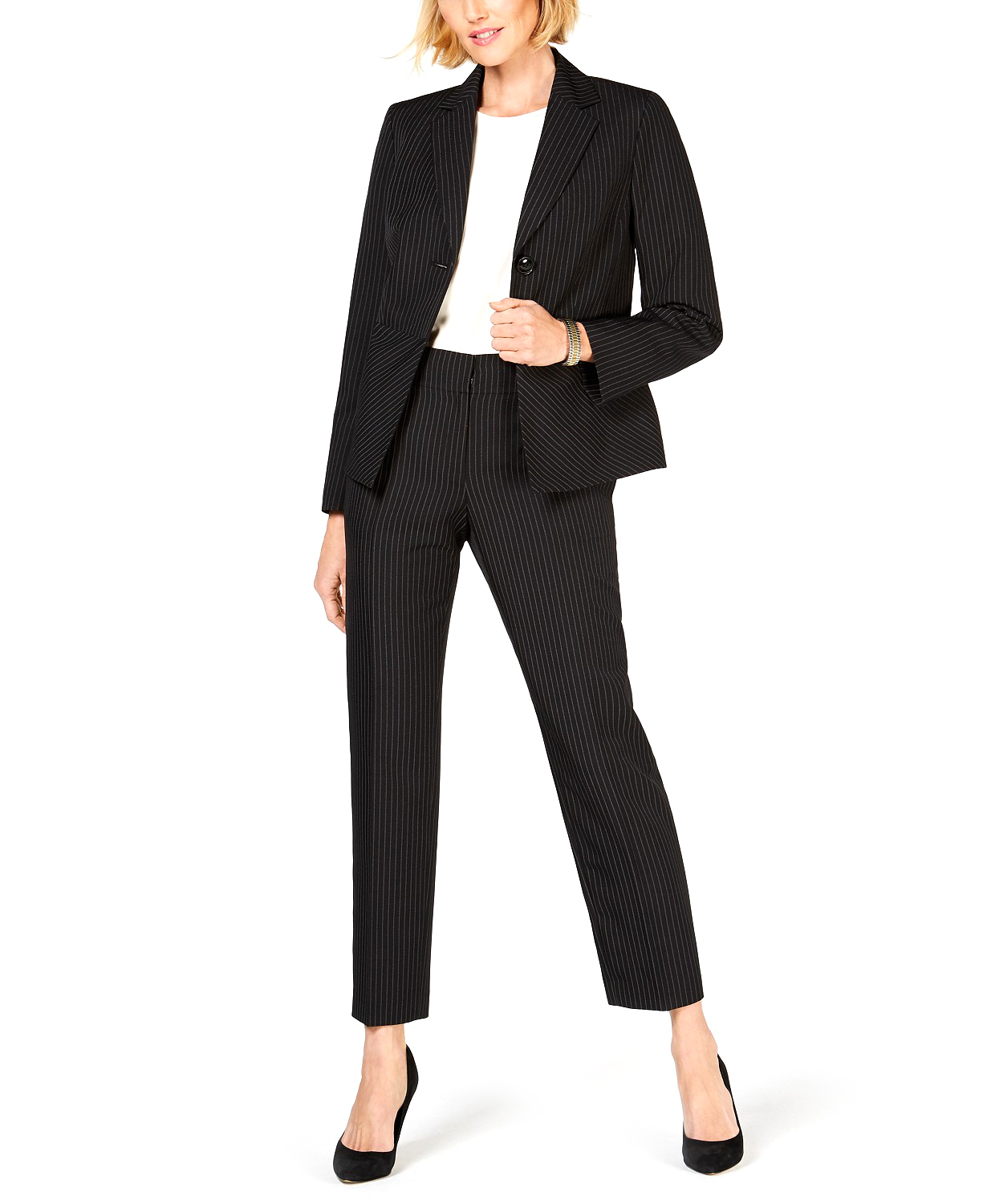 Le_Suit_|_wo-Button_Notch_Collar_Dot_Pinstripe_Pants_Suit_|_Black_Whit