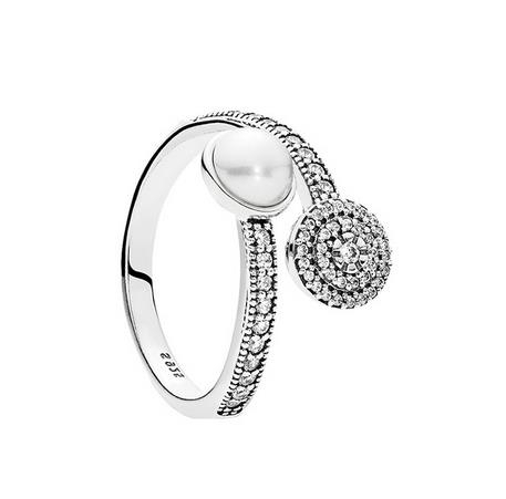 Pure_silver_ring_shine_all_around_925_silver_open_ring_pearl_retro_elegant