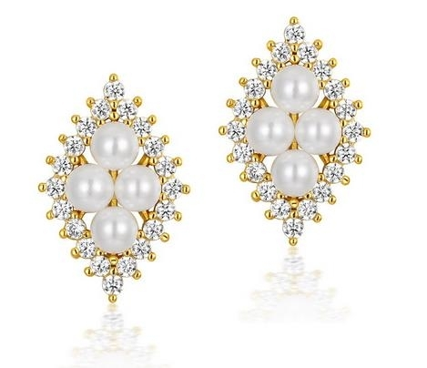 New_fashion,_advanced_sense,_retro_pure_silver,_gold_and_Pearl_Earring