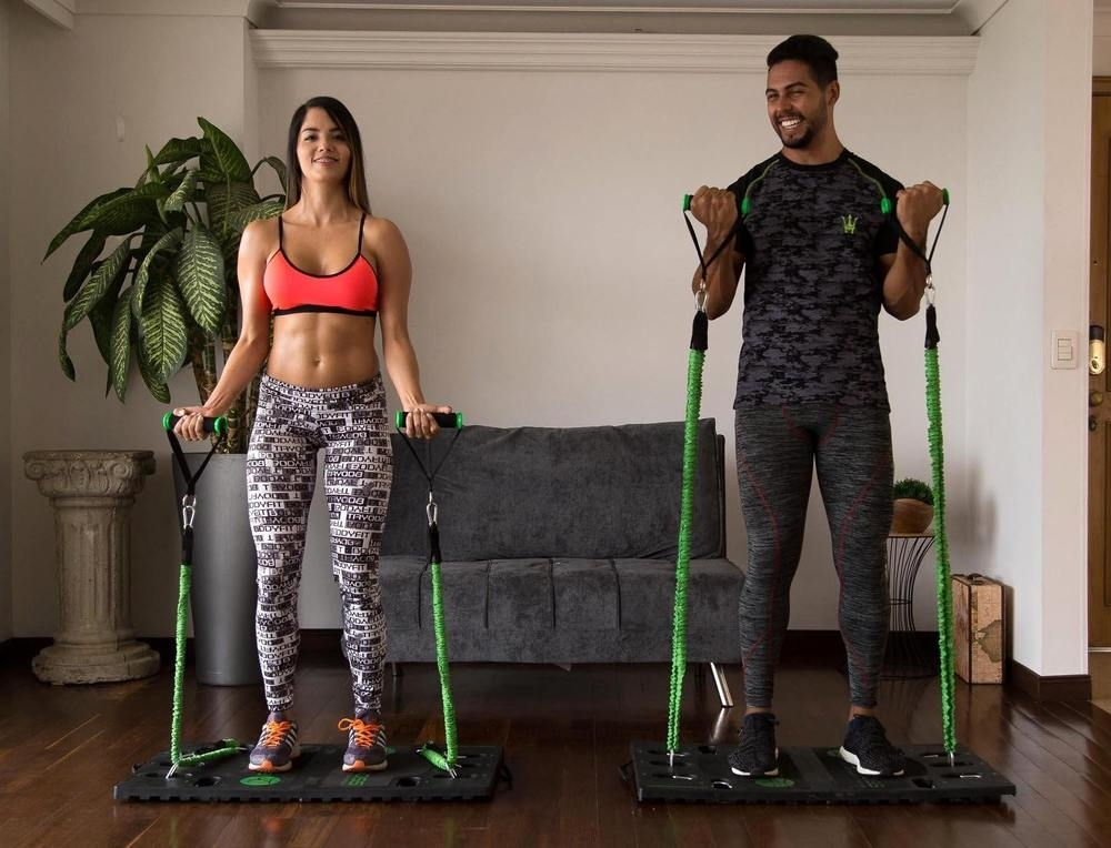 BodyBoss At-Home Portable Gym 2.0, All-In-One Strength Training - 2 Band