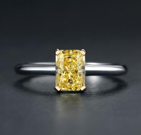 2020_new_925_Sterling_Silver_Ring_18K_gold_yellow_diamond_women's_ring