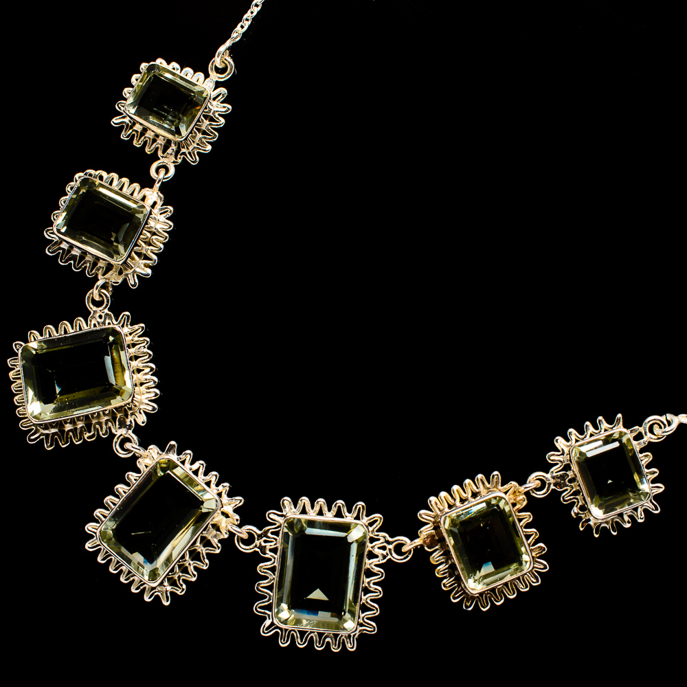 """""""Faceted_Green_Amethyst_Necklace_17_To_18_1_2""""""""__-_Handmade_Boho_Vintage"""""""