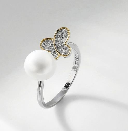 Personalized_diamond_creative_opening_Pearl_Ring