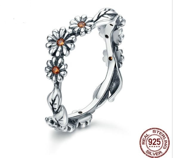S925_sterling_silver_fashion_ring_girl_daisy_with_diamond_ring