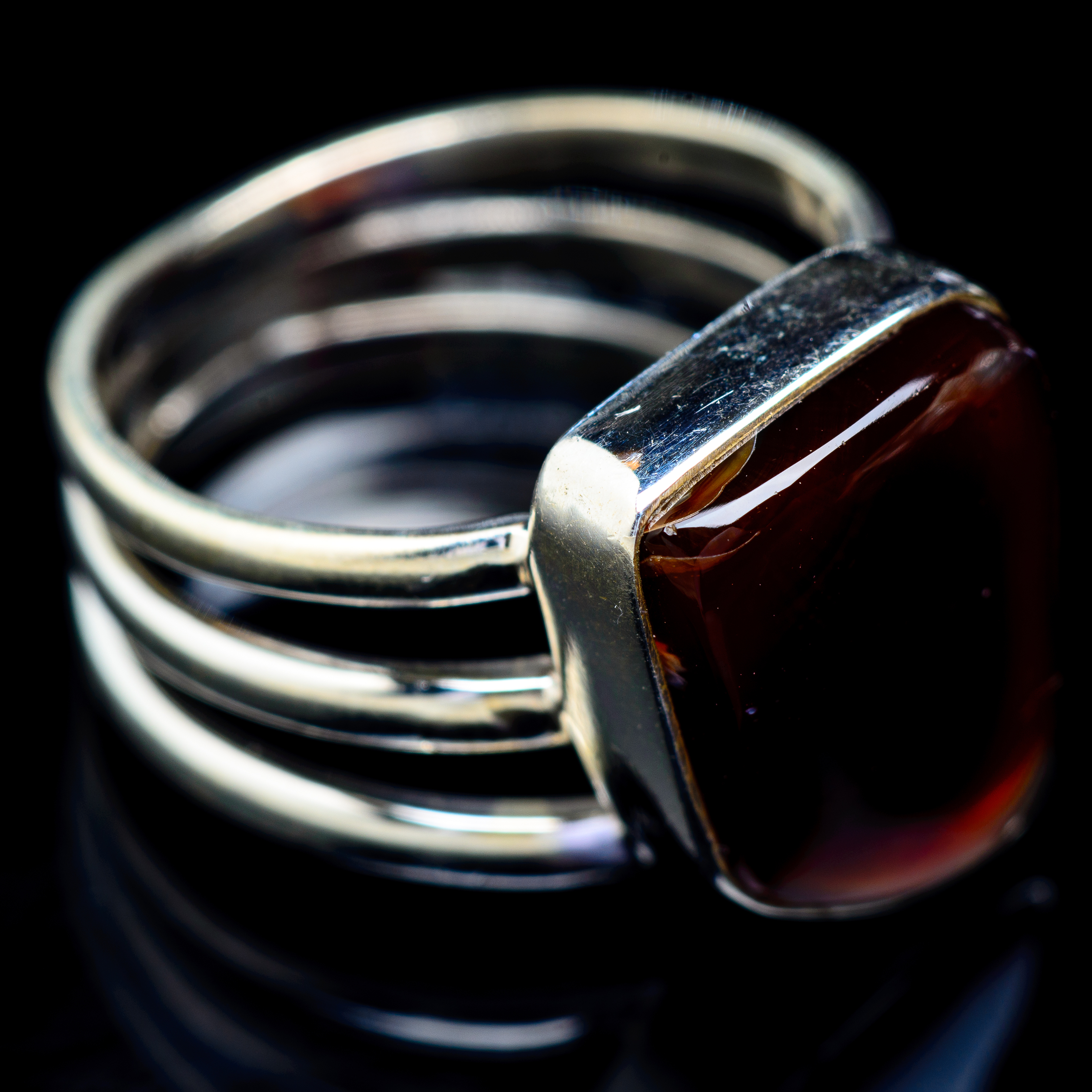 925 Sterling Silver Gold Plated Designer White Agate Handmade Ring
