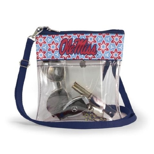 Ole Miss Rebels NCAA Clear Fashion Crossbody Purse photo