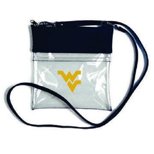 West Virginia Mountaineers NCAA Clear Gameday Crossbody Purse photo