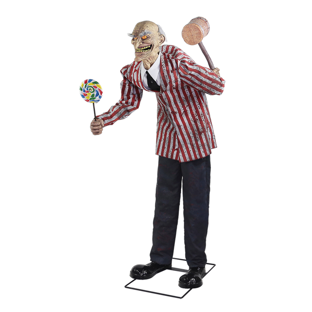 mor Animated Halloween prop Candy Creep 6 feet tall talking Animated Prop from OpenSky