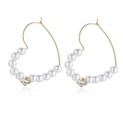 Pearl_love_big_circle_atmospheric_Earrings