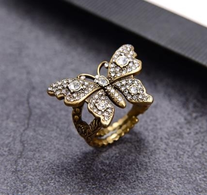 2020_New_Retro_full_diamond_butterfly_ring_temperament_personalized_opening