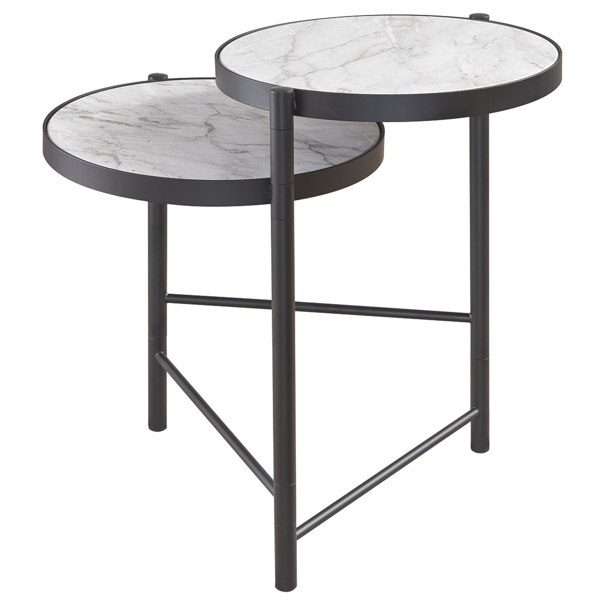 Metal End Table 2 Tier Small Side Table