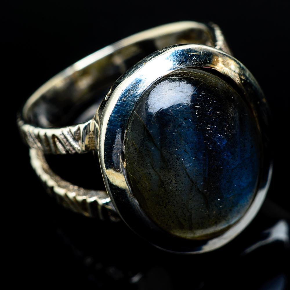 Blue Fire Labradorite Silver Ring Wedding Ring 925 Sterling Silver Labradorite Ring Size 8.5 Labradorite Gemstone Gift for her