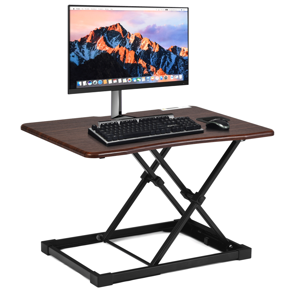 Costway Height Adjustable Standing Desk Coverter Sit to Stand Computer Desk